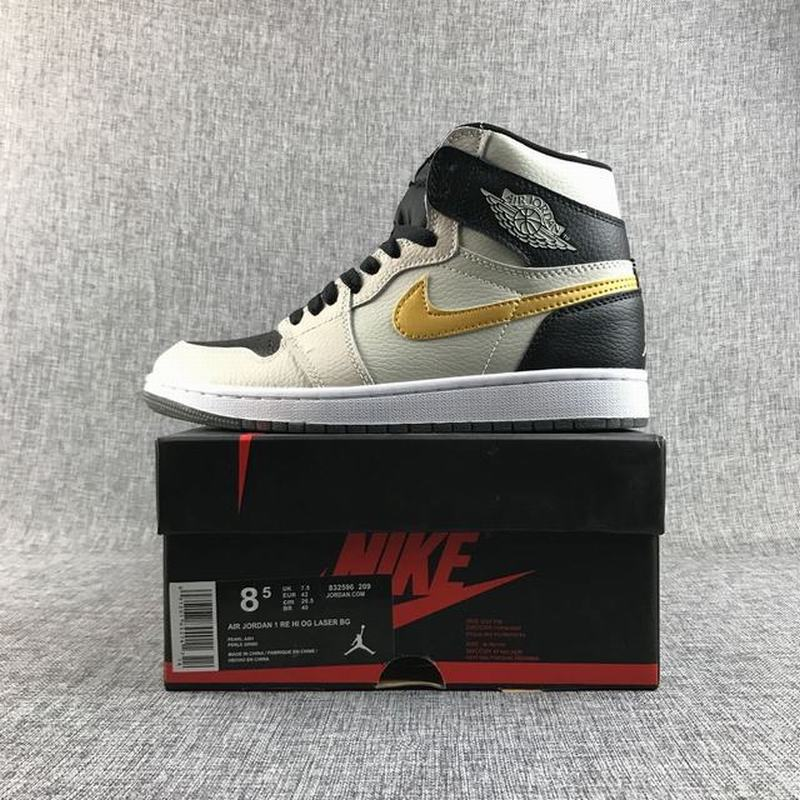Air Jordan 1 Retro High OG Unisex Casual Shoes Off-white Black